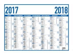 Calendrier 2018 6 Mois Oberthur Arc En Ciel Classique Bleu Calendrier