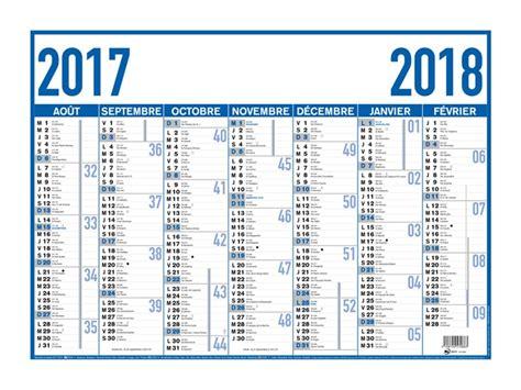 Calendrier 6 Mois 2017 Oberthur Arc En Ciel Classique Bleu Calendrier