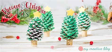 pinecone christmas trees craft project my creative blog