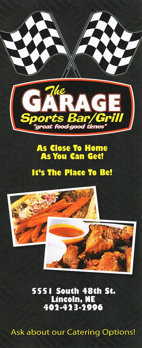 Garage Bar And Grill Menu The Garage Sports Bar Grill Delivery Menu With Prices