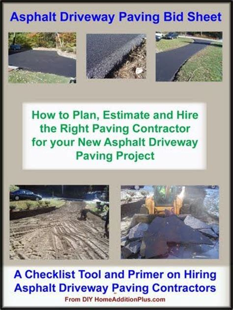 Here Is An Asphalt Driveway Paving Bid Sheet For Helping Homeowners Hire The Right Paving Driveway Estimate Template