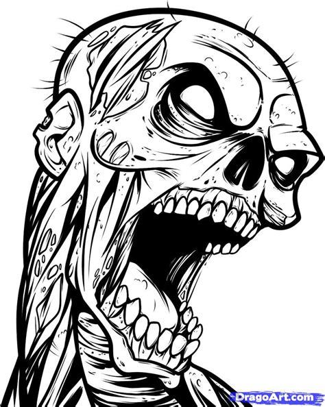 cartoon zombie tattoo flash how to draw a zombie tattoo zombie tattoo step by step