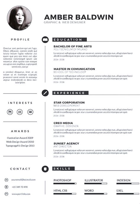 free modern resume template 2016 the best modern resume templates for 2016
