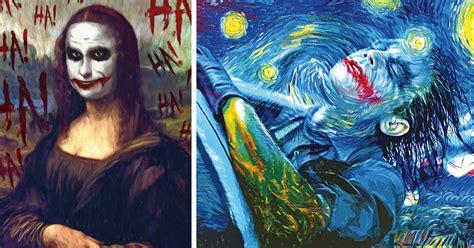 popular artwork paintings reimagined as from batman bored panda