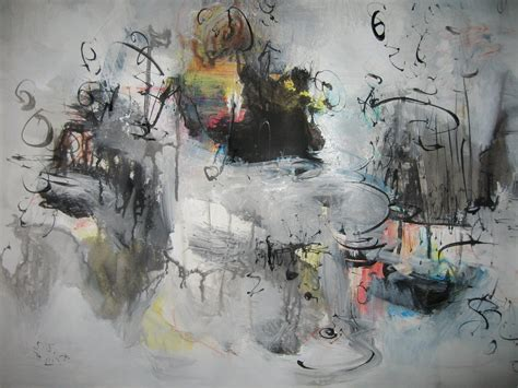 painting greys original grey abstract painting black and white gray blue art