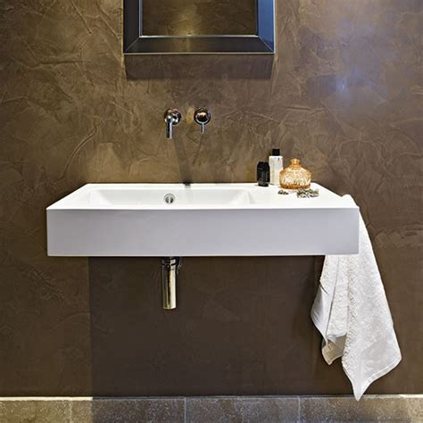 polished plaster bathroom modern bathroom with white sanitaryware and polished