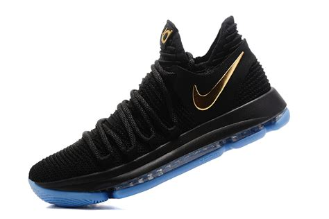 cheap nike sneakers for 2017 cheap nike kd 10 black gold blue sneakers for sale