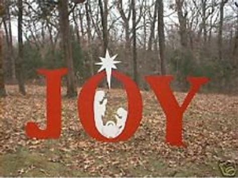 wooden joy christmas yard sign sign with nativity wood outdoor decoration by chardoman