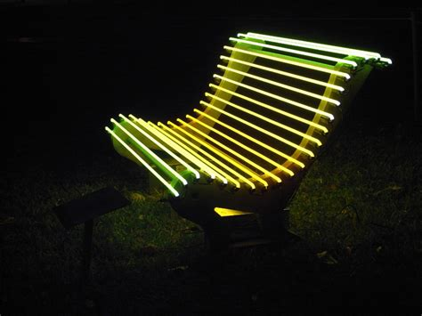 bench lights illuminated benches by ivan navarro and courtney smith