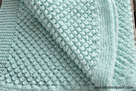Easy Knitting Patterns Popcorn Baby Blanket Peace But