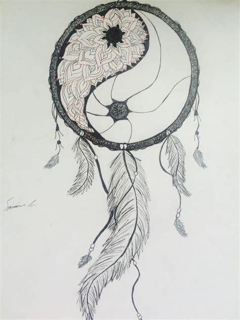 yin yang dreamcatcher tattoo please catch my nightmares yin yang mandala dream catcher