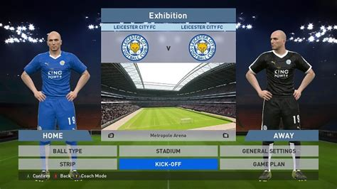 Leicester Home Leicester Away leicester city home away kits image pes 16 megaforce teams add on mod for pro evolution