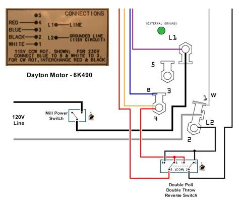 single phase wiring diagram dayton reversible motor 28