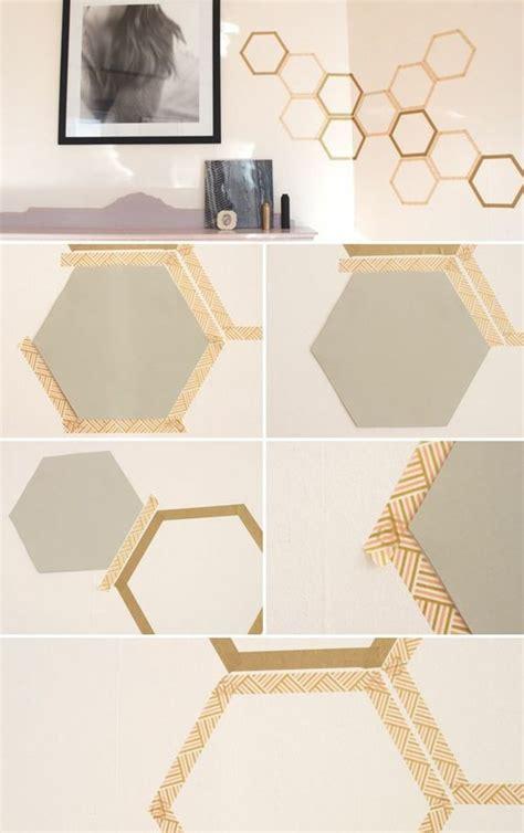 diy wandgestaltung geometrische formen tolle wandgestaltung mit farbe