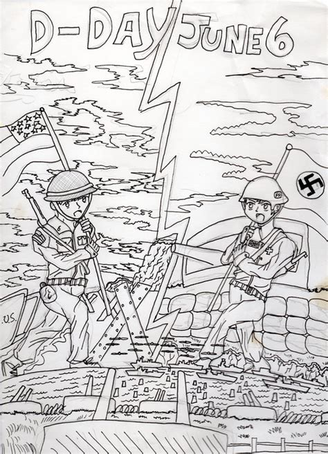 D Day Sketches by Drawing 10 D Day By Prothekamikaze On Deviantart