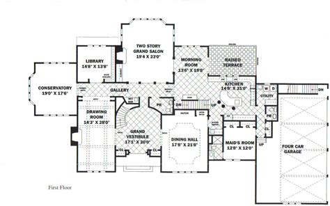 floor plans mansions mansion floorplans home planning ideas 2018