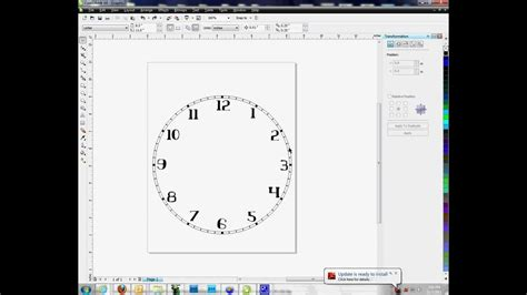 how to design calendar using corel draw creating clock faces in corel draw method 2 youtube