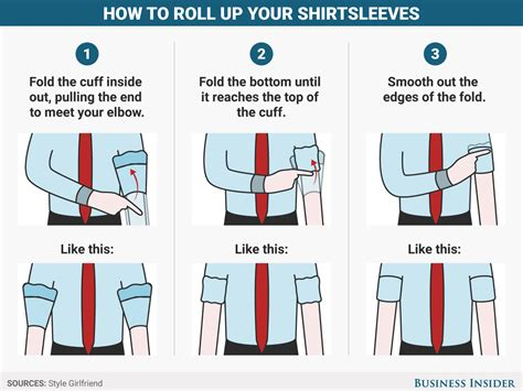 how to your to roll how to roll up your sleeves the right way business insider