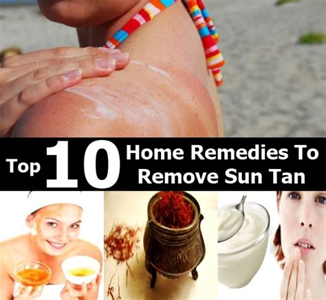 diy sun tanning top 10 home remedies to remove sun diy home things