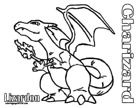 free printable pokemon quot charizad quot coloring pages