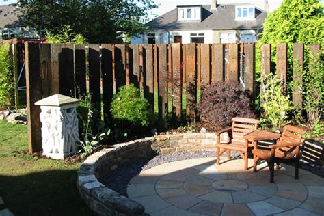 Railway Sleeper Fence by Garden Fence Designs