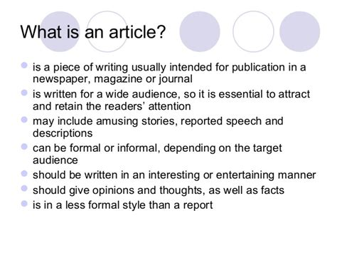 What Is An Essay by How To Write An Article