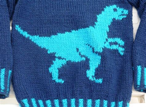 knitting pattern jumper with dinosaur you have to see dinosaur sweater and hat velociraptor on