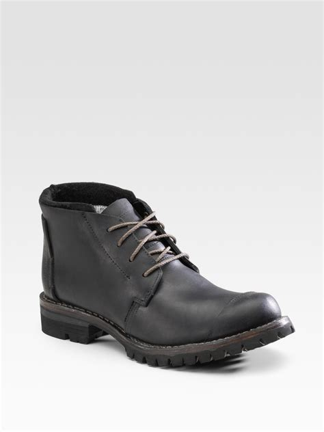 timberland tackhead chukka boots in black for lyst