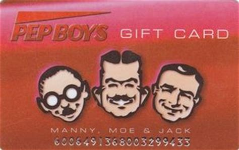 Mannys Gift Card - gift card manny moe jack pep boys united states of america pep boys col us