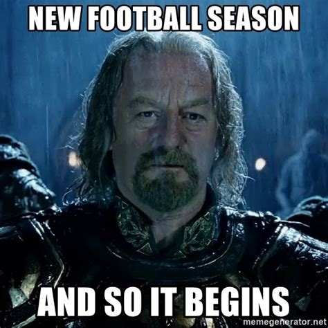 And So It Begins And Our New Look new football season and so it begins theoden so it