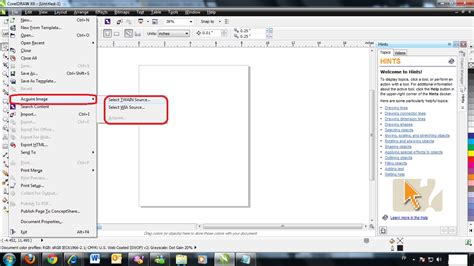 corel draw x6 use how to scan image using corel draw graphics x6 knowledge