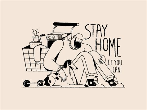 stay safe stay home digital illustrations  life