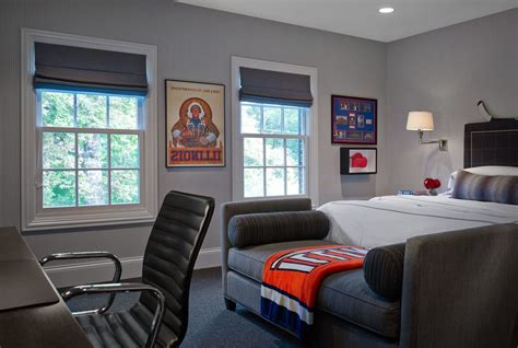 young man bedroom ideas impressive masculine bedroom with gray window treatment
