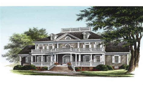 House Plans Neoclassical House Plan