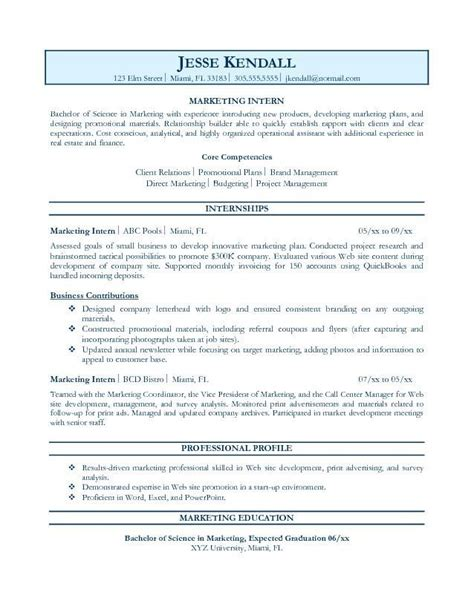marketing career objective exles exles of a resume for a 2015 it is important