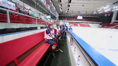 players bench hockey moscow apr 28 young hockey players take seats on bench during closing ceremony of