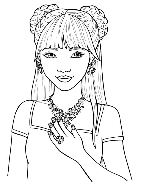 printable coloring pages of a girl coloring pages of cute girls download
