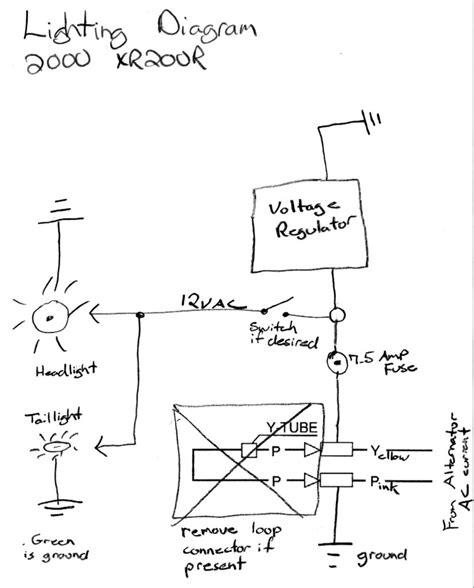 honda cdi wiring diagram honda xr 250 wiring diagram