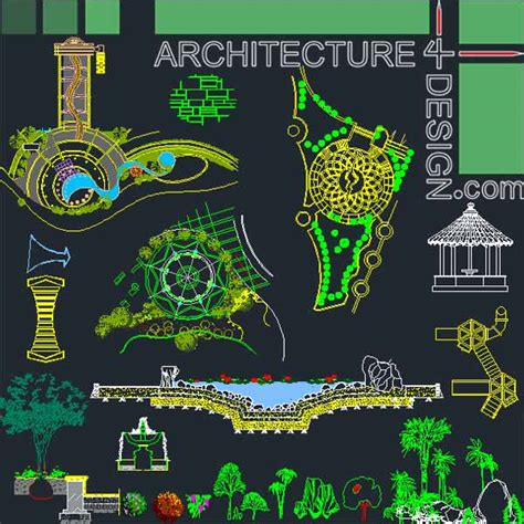 Landscape Layout Cad | landscape design collection designs symbols and details