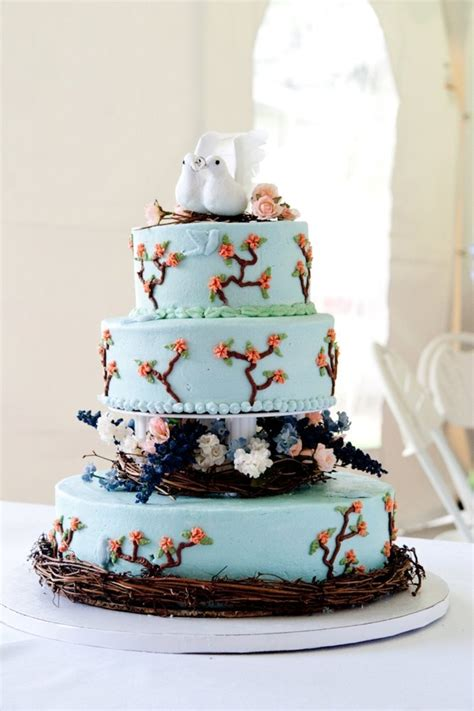 bird nature themed wedding cake cakecentral