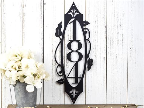 vertical house number signs vertical house number sign bigdiyideas