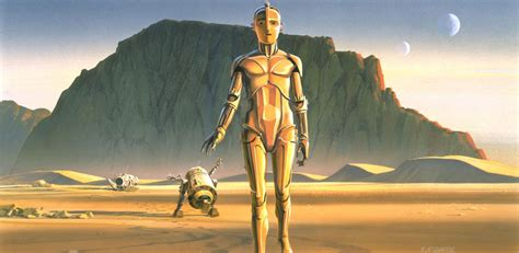 here s the concept art that inspired the robot from the here s some original ralph mcquarrie star wars concept
