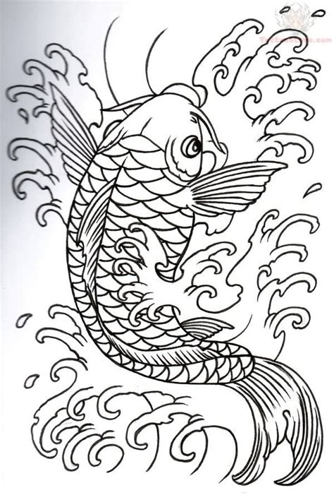 koi fish tattoo outline designs koi fish tattoos koi outline design koi