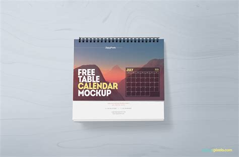 free personalized calendar software free table calendar mockup zippypixels