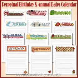 Make Your Own Jewelry Organizer - items similar to annual birthday calendar yearly date
