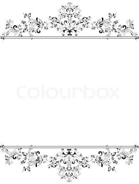 weiss schwarz card template darstellung der vertikalen vintage floral frame in schwarz