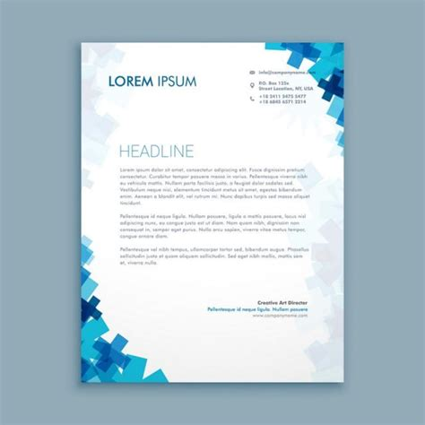 Business Letter Template Illustrator business style corporate letterhead template vector design