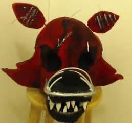Five nights at freddys 4 nightmare foxy fur head cosplay costume