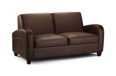 Leather Fold Out by Pavia Chestnut Faux Leather Fold Out Sofa Bed Jb577
