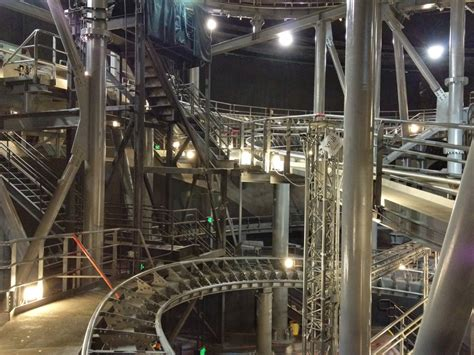 With The Lights On this is what space mountain looks like with the lights on